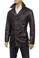 EMPORIO ARMANI Mens Button Up Artificial Leather Jacket #71
