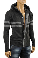 ARMANI JEANS Men's Knit Hooded Sweater #159