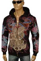 CHRISTIAN AUDIGIER Multi Print Hooded Jacket Tee #58