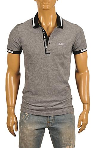 HUGO BOSS Mens Navy Blue Polo Shirt #62