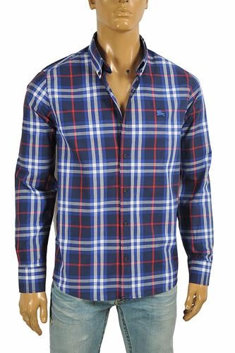 BURBERRY men's long sleeve dress shirt 272