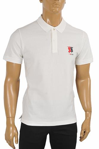 BURBERRY men's polo shirt with Front embroidery 289