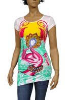 CHRISTIAN AUDIGIER Multi Print Short Sleeve Tunic #82