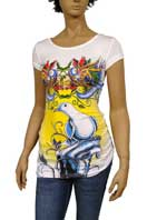 CHRISTIAN AUDIGIER Multi Print Short Sleeve Tunic #90