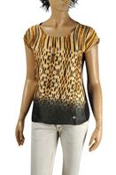 ROBERTO CAVALLI Ladies Short Sleeve Blouse #136