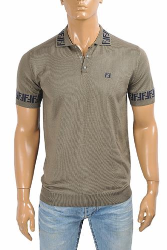 FENDI men's polo shirt, FF print 42