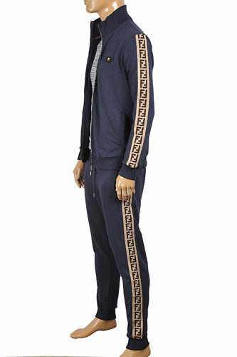 FENDI Men's Tracksuit In Navy Blue 4