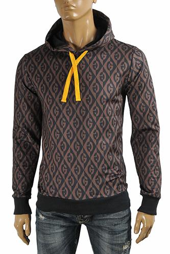 GUCCI men's cotton hoodie with printed logo 106