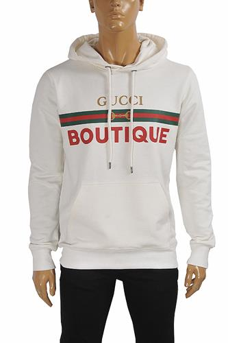 GUCCI Boutique print hooded sweatshirt 114