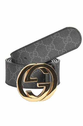 GUCCI GG men's leather belt 66