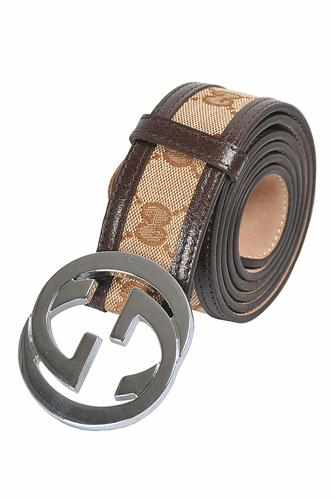 GUCCI GG men's leather belt 67