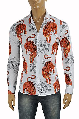 GUCCI Men's Tiger Dress Shirt #370