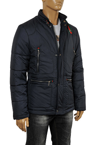 GUCCI Men's Winter Warm Jacket In Navy Blue #133