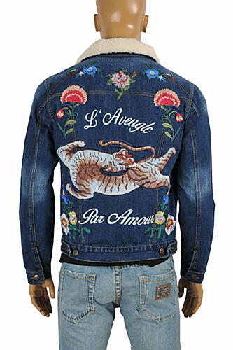 GUCCI men's embroidered bomber jacket #158