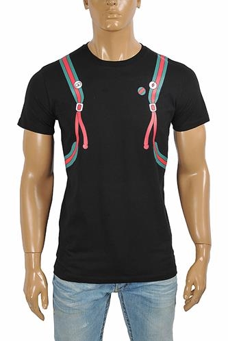 GUCCI Men's Backpack Print Cotton Tee 291