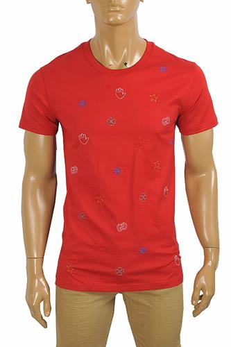 GUCCI cotton t-shirt with symbols embroidery 300