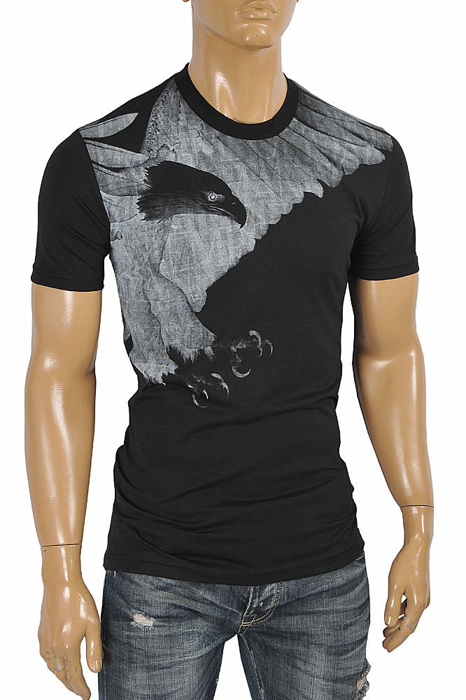 Mens Designer Clothes | EMPORIO ARMANI Men's T-Shirt With Front Print 122