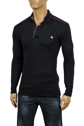 Mens Designer Clothes | BURBERRY Men's Button Up Sweater #8
