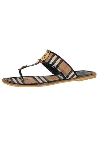 BURBERRY Ladies Flip Flops Leather