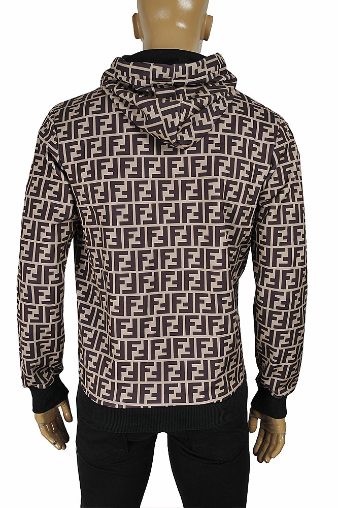Mens Designer Clothes | FENDI FF men's cotton hoodie with print logo 55