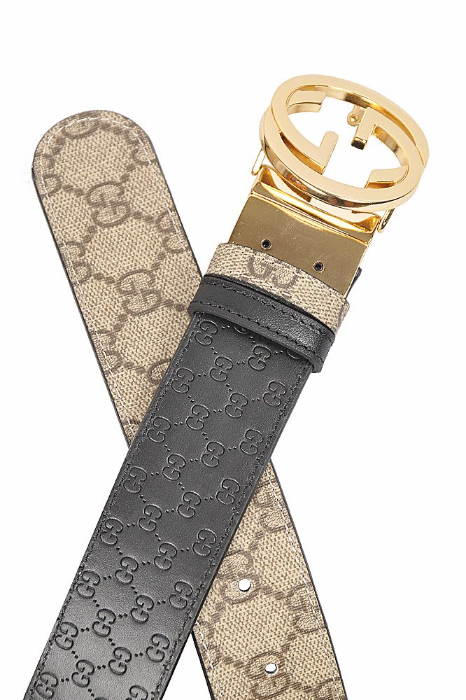 Mens Designer Clothes | GUCCI GG men's reversible leather belt 72