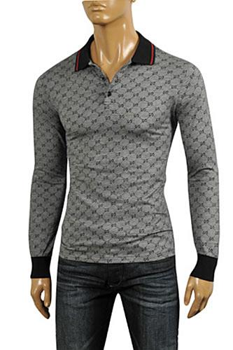 mens designer clothes gucci men 39 s long sleeve polo shirt
