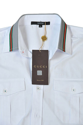 Mens Designer Clothes | GUCCI Mens Short Sleeve Shirt In White #167