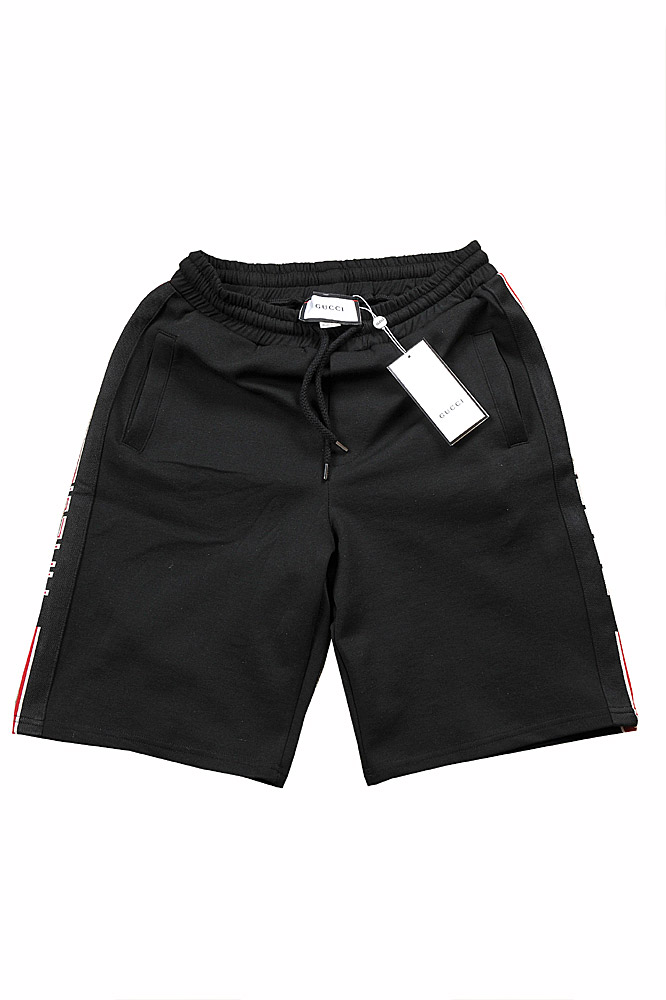 Mens Designer Clothes | GUCCI men's cotton shorts with side stripes 104