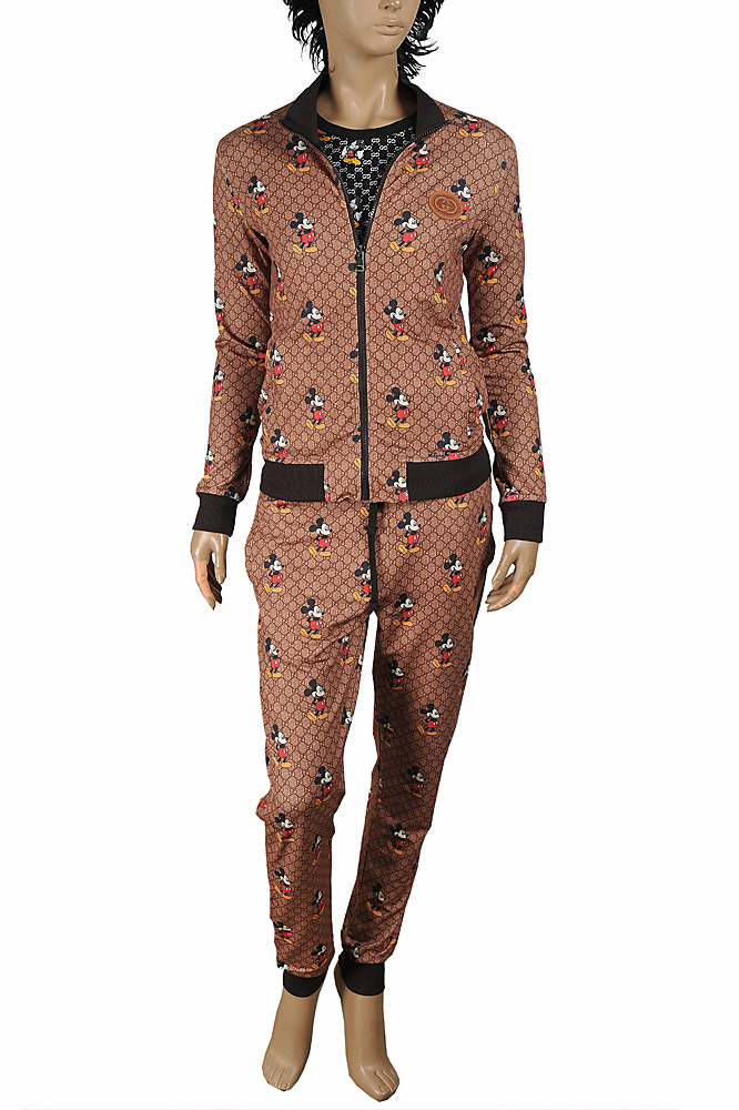 Womens Designer Clothes | Disney x Gucci Mickey Mouse women's jogging suit 177
