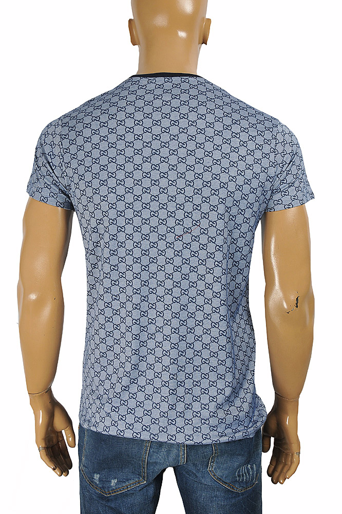 Mens Designer Clothes | GUCCI cotton T-shirt with signature GG print 277
