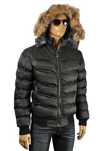 mens designer clothes philipp plein men 39 s warm winter hooded jacket 3. Black Bedroom Furniture Sets. Home Design Ideas