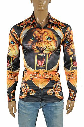 VERSACE Tiger print men's dress shirt #172