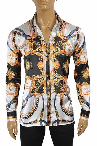 VERSACE amplified-print dress shirt 188
