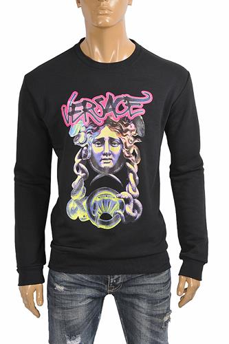VERSACE men's sweatshirt with front print 26