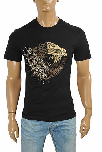 VERSACE men's t-shirt with front medusa print 114