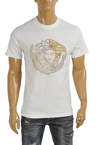 VERSACE men's t-shirt with front medusa print 115