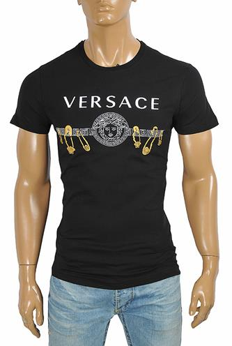 VERSACE men's t-shirt with front logo print 116