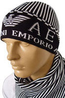 EMPORIO ARMANI Mens Hat/Scarf Set #58