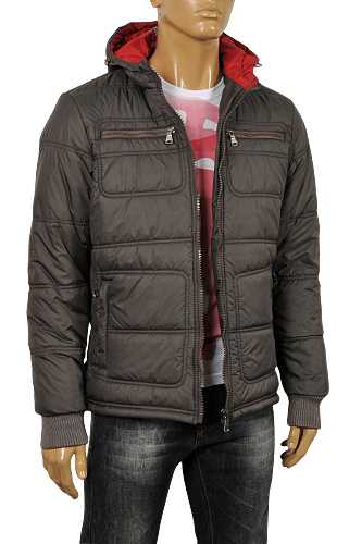 ARMANI JEANS Men's Hooded Warm Jacket #117