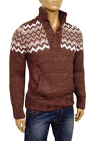 EMPORIO ARMANI Mens Polo Style Warm Sweater #115