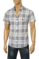 BURBERRY Men's Short Sleeve Shirt#72
