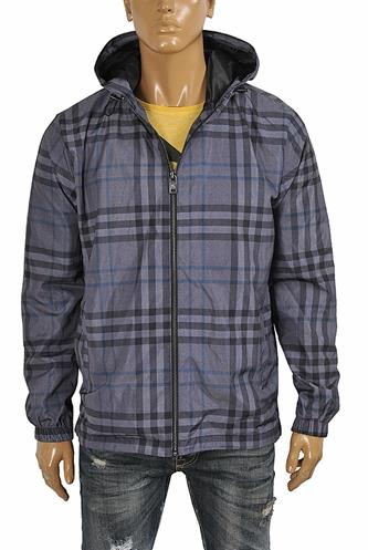 BURBERRY Men's windbreaker hooded jacket 56