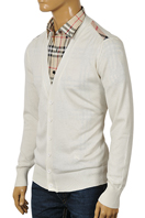 BURBERRY Men's V-Neck Button Up Sweater #119