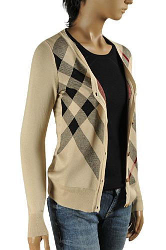 11b545548bb Womens Designer Clothes   BURBERRY Women s V-Neck Button Up Sweater  46  View 1