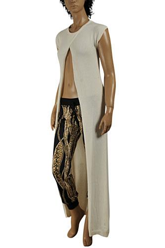 ROBERTO CAVALLI long sleeveless knitted dress/cover with opening