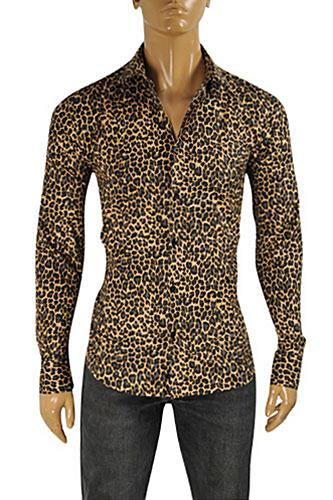 ROBERTO CAVALLI Leopard Men's Dress Shirt #331