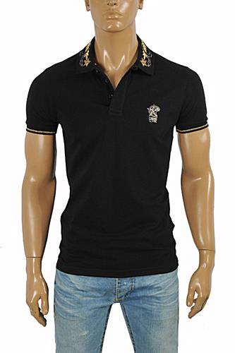 CAVALLI CLASS men's polo shirt with collar embroidery #371