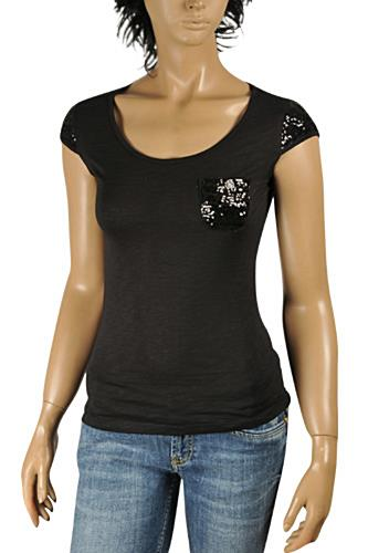 ROBERTO CAVALLI Ladies Short Sleeve Top #0156