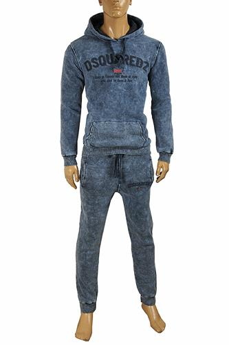 DSQUARED men's hooded jogging suit 8