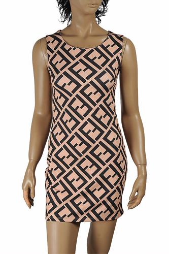 FENDI sleeveless dress with logo print 29